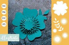 Paper Flower Template Bundle | Paper Cutting Bundle SVG Product Image 7