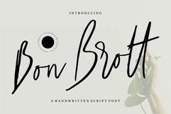 Bon Brott - A Handwritten Script Font Product Image 1