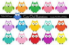 Cute Owl Illustrations Product Image 1