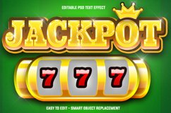 jackpot 777 text effect Product Image 1