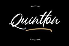 Quintton Script Product Image 1