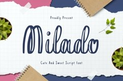 Web Font Milado Display Font Product Image 1