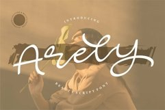 Web Font Arely - Beauty Script Font Product Image 1