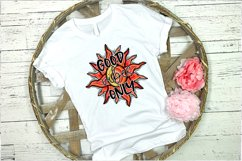Good Vibes Only, Sun and Moon Design, Hand Drawn, PNG File Product Image 5
