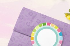 Spring Circle Frames Clipart Set of 24 PNG files Product Image 6
