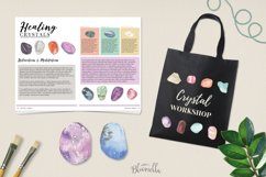 60 Gemstones Watercolor Elements Painted PNG Stones Crystals Product Image 2