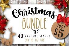 Christmas Bundle SVG bundle 40 designs Winter SVG Product Image 1
