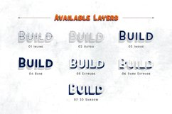 Sevastian - Seven Layered Typeface Product Image 2
