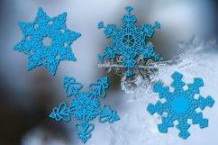 Christmas snowflake SVG ornament Product Image 2