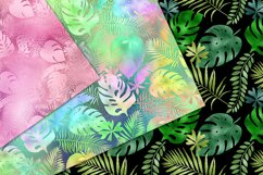 Iridescent Tropical Leaf Patterns Product Image 2