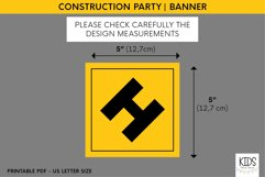 Construction party printable HAPPY BIRTHDAY banner Product Image 2