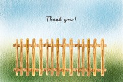 Watercolor clipart FARM life Product Image 5