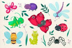 Cute cartoon vector insects Product Image 2