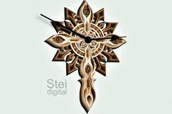 Cross Wall Clock design dxf, Cricut svg, laser cutting file. Product Image 4