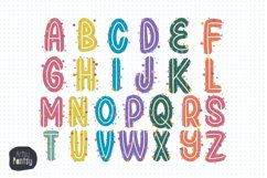 Alphabet Clipart, 78 watercolor PNG Graphics, Letters Name Product Image 6