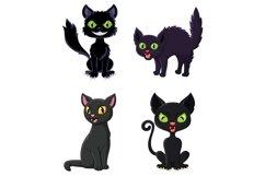 Set of thirteen Cartoon Black Cats Product Image 2