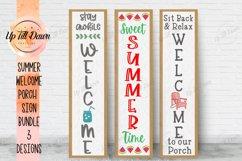 Summer Welcome Porch Sign SVG Bundle Product Image 1