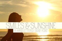Web Font Smiles & Sunshine - A Handlettered Serif Font Product Image 1