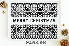 Merry Christmas SVG, Christmas card template PNG, JPG Product Image 1