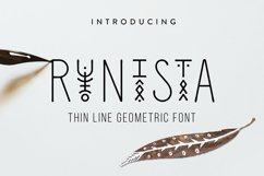 Runista - Thin Line Geometric Font Product Image 1