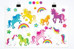 Unicorns and Rainbows graphics and illustrations Product Image 2