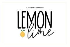 Lemon Lime - A Print/Script Handwritten Font Duo Product Image 1