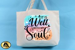 Inspirational Quote PNG Watercolor Christian Sublimation Product Image 2