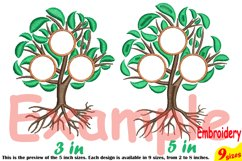 Family Tree Circle Embroidery Design Machine Instant Download Commercial Use digital Outline family love Frame Deep Roots Branches 207b Product Image 3
