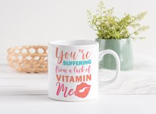 Funny Valentines Quote SVG Cut File | Red Lips SVG | Kiss Product Image 2