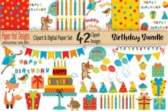 Birthday Clipart and Digital Papers Bundle Product Image 1