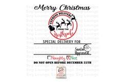 Christmas Santa Approved Sack Svg Cut File Product Image 1