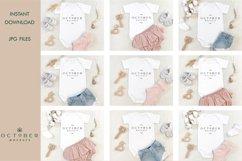 Mockup bundle JPG   Baby Girl Bodysuit White   Sublimate bla Product Image 2