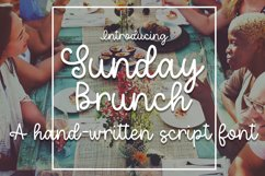 Sunday Brunch - A Hand-Written Script Font Product Image 1