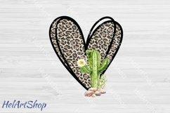 Leopard Cactus png, Sublimation PNG, Leopard print png Product Image 1