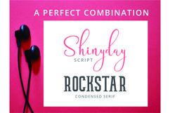 Shinyday & ROCKSTAR font duo Product Image 5