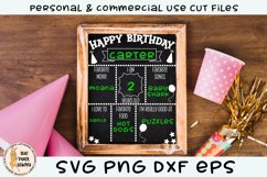 Birthday Chalk Board Sign SVG Product Image 3