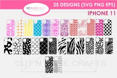 25 iPhone 11 SVG Designs| Phone Case Decals Product Image 1