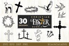 Christian Easter SVG bundle 30 designs Product Image 4