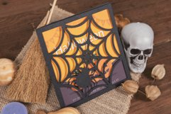 Spider Web Halloween Invitation cutting file Product Image 1