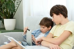 Kids and gadgets. Distance learning Product Image 1