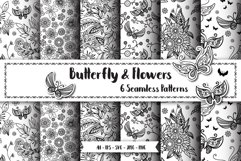 Butterfly Seamless Patterns Product Image 1