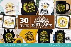 Sunflower SVG bundle 30 designs sunshine SVG bundle Product Image 1