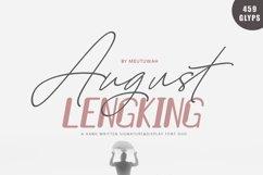 August Bold&LENGKING SLANT Font duo Product Image 1