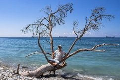 Picturesque summer landscape on a stone beach. 2pcs Product Image 1