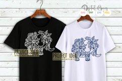 Elephant paper cut design SVG / DXF / EPS / PNG files Product Image 6