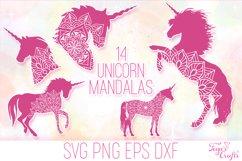 Unicorn Mandala SVG Cut Files Pack Product Image 1