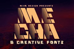 Mecha - Display Font Product Image 1
