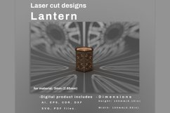 LANTERN - laser cut file Product Image 4