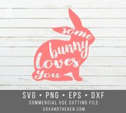 Some Bunny Loves You SVG - Easter Svg Product Image 2