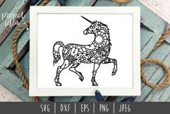 Unicorn Mandala Zentangle Bundle Set of 5 - SVG Product Image 5